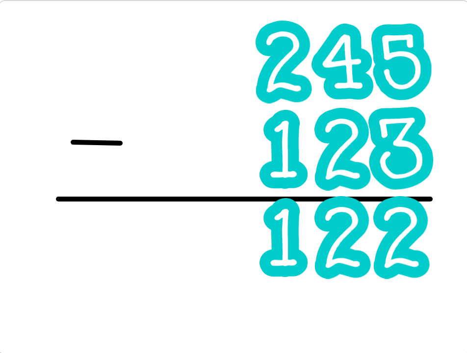 小学生必見!簡単なプログラム!算数の授業「引き算の筆算」